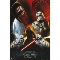 Póster Star Wars, classic empire black