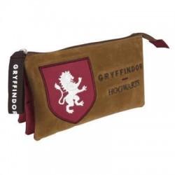 Portatodo Gryffindor granate y marrón, Harry Potter