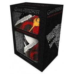 Pack Juego de Tronos: Targaryen & Stark (taza, posavasos