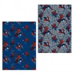 Manta Spiderman gris franel 160 x 120