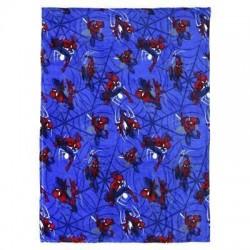 Manta Spiderman azul franela 160x120
