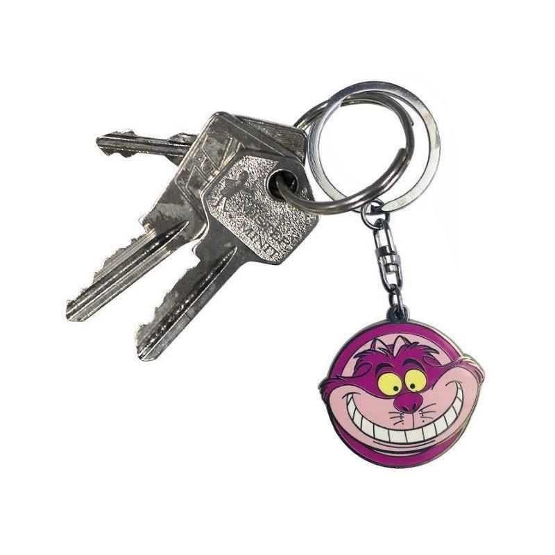 Gato de Cheshire Llavero del Pa/ís de Las Maravillas Estamos Todos Locos aqu/í Llavero.