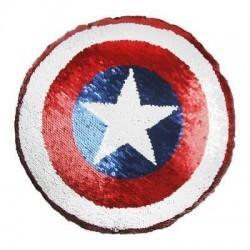 Cojín Capitán América lentejuelas, Marvel