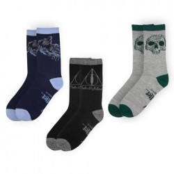 Lote 3 pares calcetines Reliquias de la Muerte