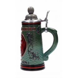 Jarra cerámica delux casa Targaryen con tapa, Juego de tronos