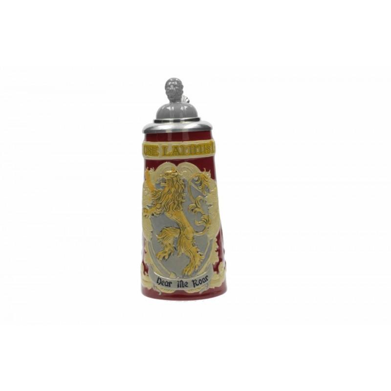 Jarra cerámica delux casa Lannister con tapa, Juego de tronos