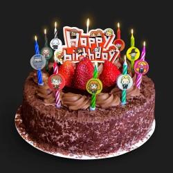Set de 11 velas de cumpleaños Kawaii, Harry Potter