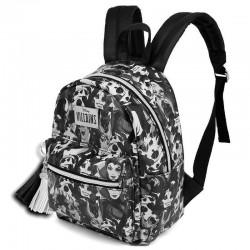 Mini mochila Villanas blanco y negro, Disney