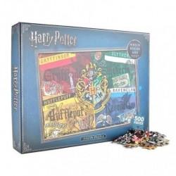 Puzzle Casas Hogwarts, 500 piezas, Harry Potter