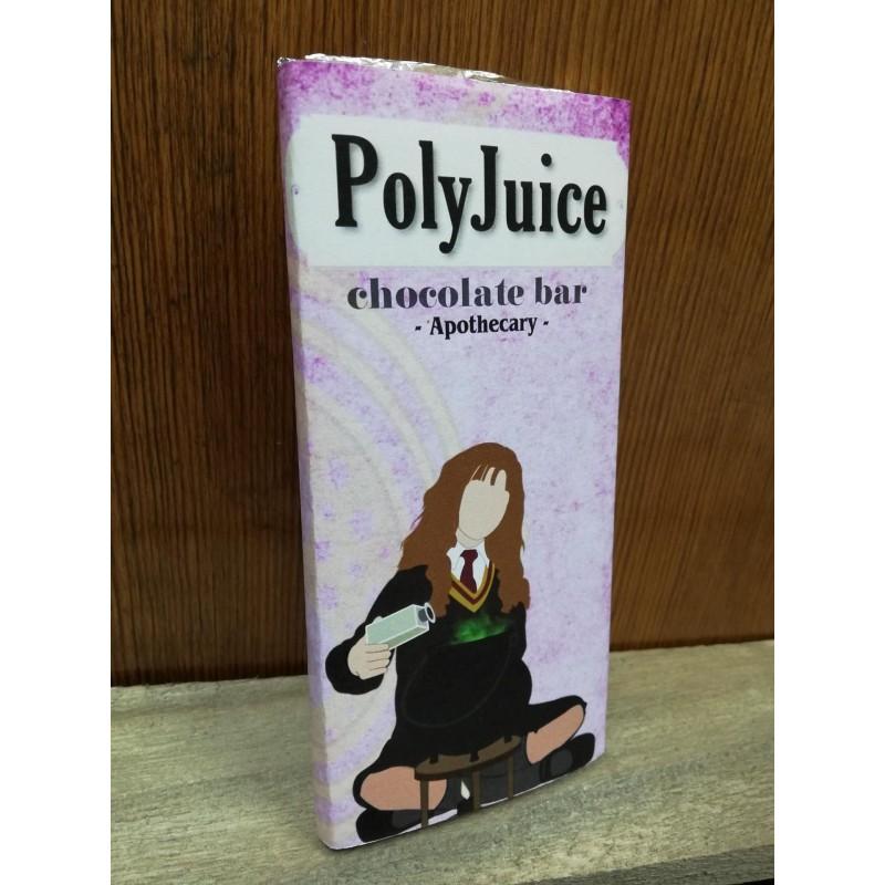 """Tableta chocolate con leche """"PolyJuice"""""""", con pociones."""""""