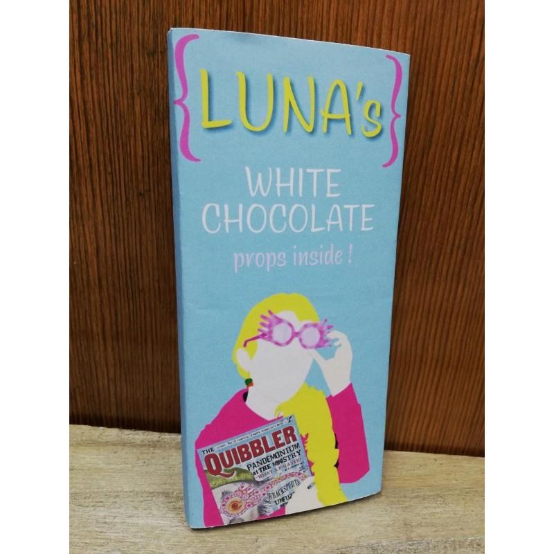 """Tableta chocolate blanco """"Luna's"""""""", con mini Quisquilloso"""