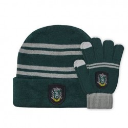 Guantes + gorro Slytherin infantil, Harry Potter