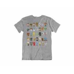 Camiseta personajes 8-BIT, unisex, Star Wars
