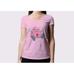 Camiseta chica Caca Arale, rosa