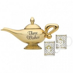 Set lámpara + tetera + vasos Jasmine y Aladdin, Disney