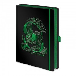 Libreta Slytherin metalizado, Harry Potter