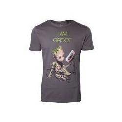Camiseta Groot cassette verde