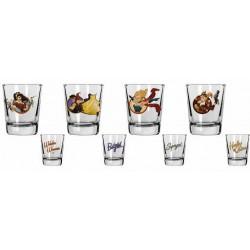 Súper Heroinas, Set 4 vasos de chupito, DC