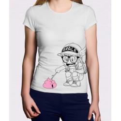 Camiseta chica Arale y caca rosa