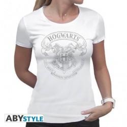 Camiseta escudo Hogwarts manga corta, Harry Potter