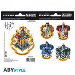 Pegatinas escudos casas Hogwarts, Harry Potter