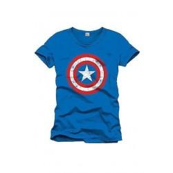 Camiseta logo capitán América, Marvel