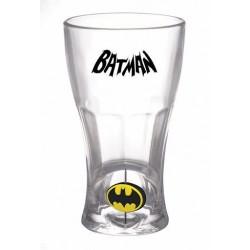 Vaso Batman cristal, logo spinner, DC Comics