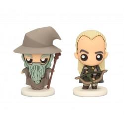 Set de 2 figuras Pkis, Gandalf y Legolas, El Señor de los