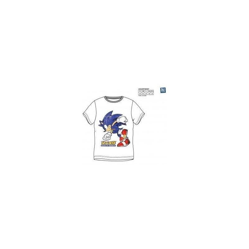 Camiseta Sonic adulto blanca