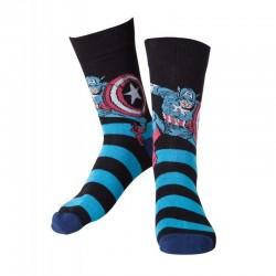 Calcetines Capitán América, talla única 39/42