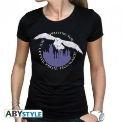 Camiseta Hedwig negra, Harry Potter