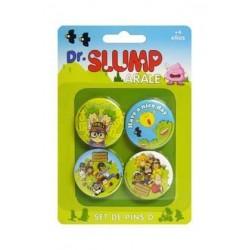 Set de 4 Pins personajes Dr. Slump, Arale