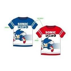 Camiseta azul Sonic Running infantil
