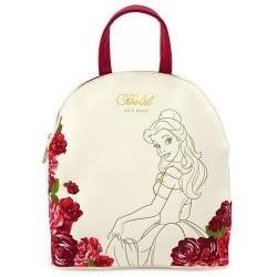 Mini mochila Bella, burdeos y crema, Bella y Bestia