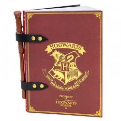 Cuaderno A5 + boli varita Harry Potter