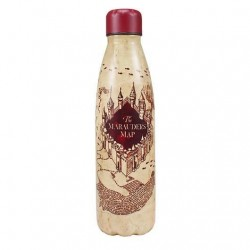 Botella metálica mapa del merodeador, Harry Potter