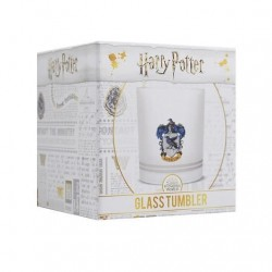 Vaso escudo Ravenclaw, cristal translucido, Harry Potter