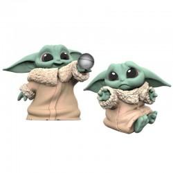 Pack Baby Yoda figuritas, Pena y Bola, The Mandalorian