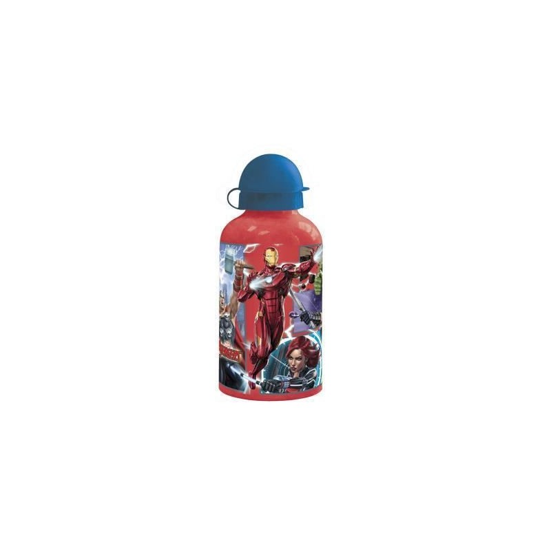 Botellin rojo de aluminio Marvel