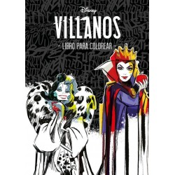 Libro: Villanos, libro para colorear, Disney