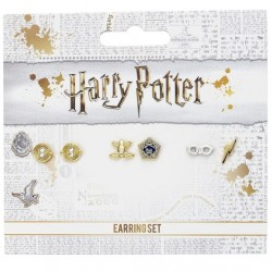 Set de 3 pendientes - Harry Potter - Giratiempos, Rana de chocolate, gafas, rayo