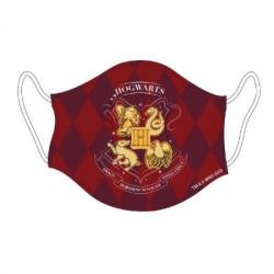 Mascarilla Hogwarts juvenil roja, Harry Potter