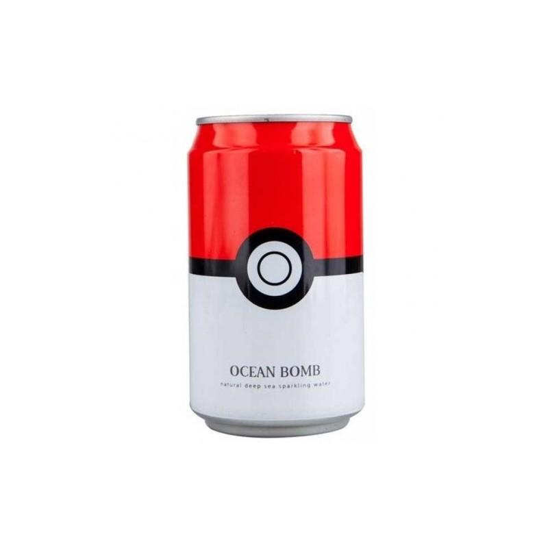 Lata Pokeball, Agua Soda sabor Menta, Pokémon
