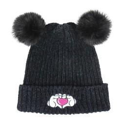 Gorro pompón Minnie negro, Disney