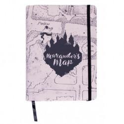 Libreta A5 Mapa del merodeador, Harry Potter