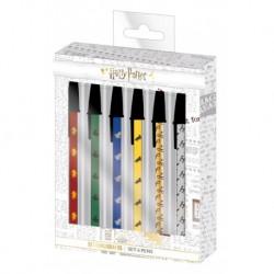 Set de 6 bolígrafos, Harry Potter