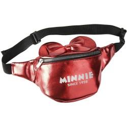 Riñonera Minnie Mouse, Rojo Metalizado, Disney