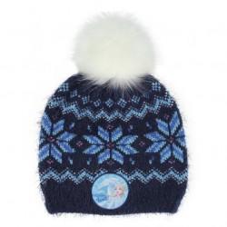 Gorro azul con pompón, Frozen