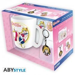 Pack Sailor Moon, taza llavero y chapas