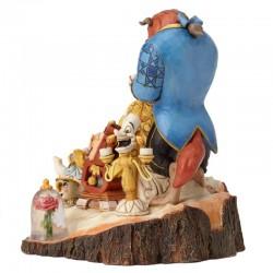 Figura La Bella y La Bestia, Disney Traditions, Jim Shore